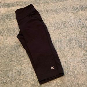 Champion Black Cropped Athletic Workout Leggings